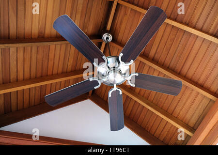 Ceiling fan, indoors - Stock Photo