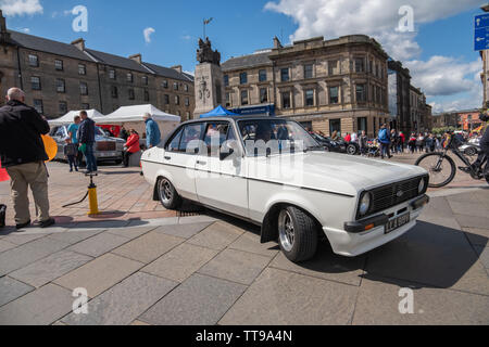 Paisley, Scotland, UK. 15th June, 2019. Paisley Carfest 2019 which this year celebrates it's 6th anniversary. On show are a range of classic vehicles, vintage cars, specialist custom cars, muscle cars, supercars and emergency vehicles. All funds raised on the day go to support St. Vincent's Hospice in Howwood. Credit: Skully/Alamy Live News - Stock Photo