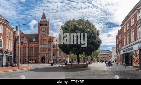 The Town Hall, Friar Street, Reading, Berkshire, United Kingdom - Stock Photo