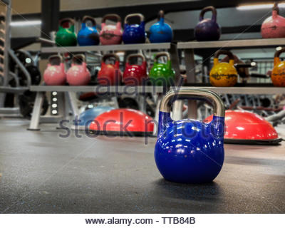 Colorful kettlebells Stock Photo: 310735603 - Alamy