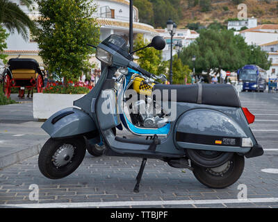 XII Concentración motos clásicas Villa de Mijas -classic motorcycle meeting in Mijas, Málaga province, Andalusia, Spain. - Stock Photo