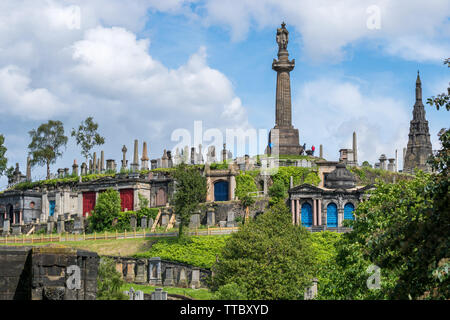 Necropolis Cementery in Glasgow, Scotland, UK - Stock Photo