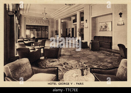 Hotel George V, Paris, France, Hall - Stock Photo