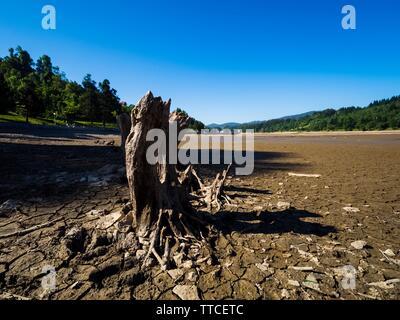 Dried lake-bed Bajer in Fuzine Croatia Spring 2019 Stock Photo