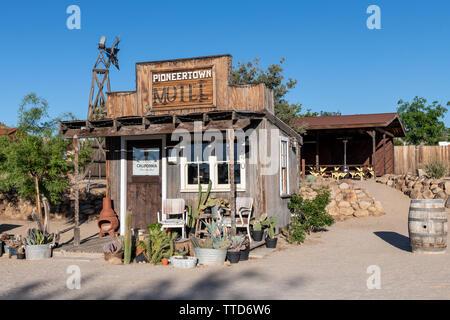 Pioneertown Motel in Southern California, USA - Stock Photo