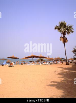 Beach view, Serrekunda Beach (Senegambia Beach Hotel),  Serrekunda, Republic of The Gambia - Stock Photo