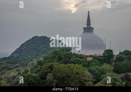 Maha Stupa in Mihintale, Anuradhapura, Sri Lanka - Stock Photo