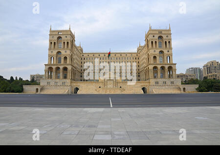 Government House and Council of Ministers of Azerbaijan, located on Freedom Square in Baku - Stock Photo