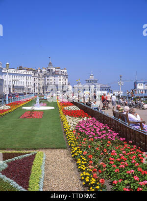 Marine Parade Gardens, The Promenade, Eastbourne, East Sussex, England, United Kingdom - Stock Photo