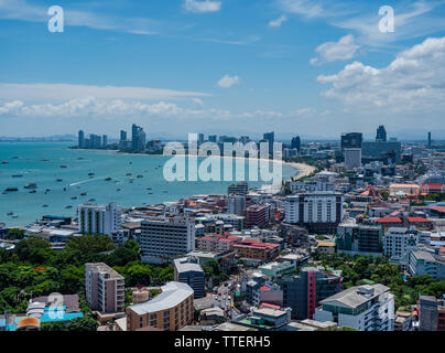 Pattaya, the popular resort city in Thailand, famous for its beaches and its many bars and redlight districts. - Stock Photo