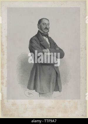 Baum, Fabrikbesitzer circa 1858, Additional-Rights-Clearance-Info-Not-Available - Stock Photo