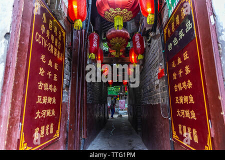 Ciqikou ancient town, a popular travel destination - Stock Photo