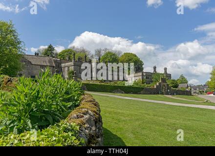 Tissington Hall, a 17th century Jacobean country house, in the village of Tissington, Derbyshire, UK - Stock Photo