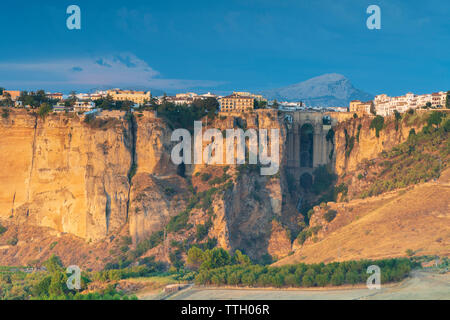 Citadel of Ronda on el Tajo gorge, Andalusia, Spain - Stock Photo