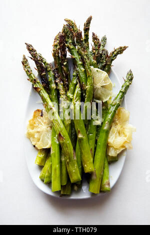 Asparagus Lemon Baked - Stock Photo
