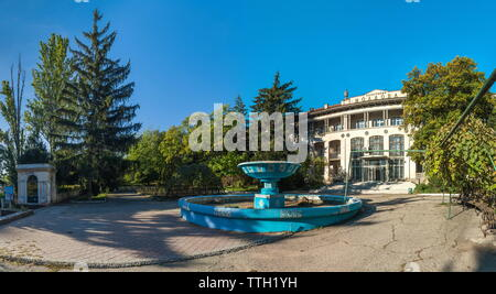 Abandoned sanatorium Moldova in Odessa, Ukraine - Stock Photo
