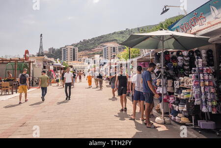 Budva sea promenade in Montenegro - Stock Photo