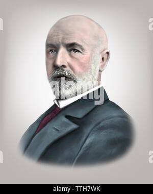 Georg Cantor 1845-1918 German Mathematician - Stock Photo