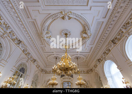 Rudolph Gallery (Rudolfova galerie) of the New Royal Palace (Nový královský palác) in Prague Castle in Prague, Czech Republic. - Stock Photo