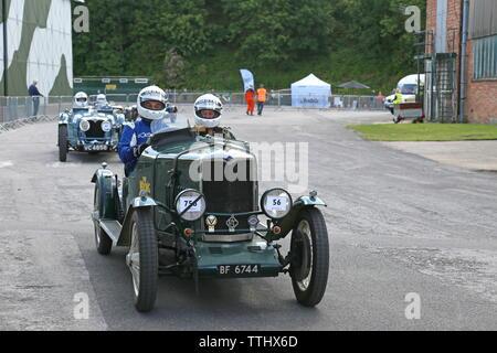 Riley Nine (1930), Double Twelve Motorsport Festival 2019, Brooklands Museum, Weybridge, Surrey, England, Great Britain, UK, Europe - Stock Photo