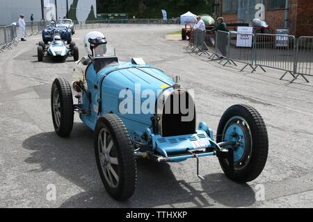 Bugatti Type 35C (1927), Double Twelve Motorsport Festival 2019, Brooklands Museum, Weybridge, Surrey, England, Great Britain, UK, Europe - Stock Photo