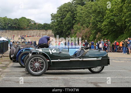 Morgan Super Sports (1932), Double Twelve Motorsport Festival 2019, Brooklands Museum, Weybridge, Surrey, England, Great Britain, UK, Europe - Stock Photo