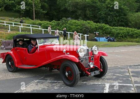 Lagonda M45 T7 (1933), Double Twelve Motorsport Festival 2019, Brooklands Museum, Weybridge, Surrey, England, Great Britain, UK, Europe - Stock Photo