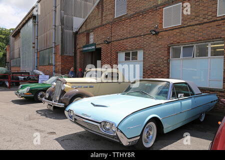 Ford Thunderbird (1962), Double Twelve Motorsport Festival 2019, Brooklands Museum, Weybridge, Surrey, England, Great Britain, UK, Europe - Stock Photo