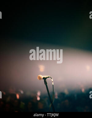 Microphone at concert hall - Stock Photo