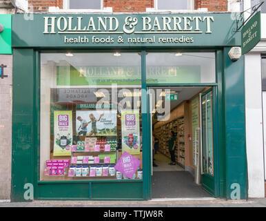London - 15th June 2019 - Holland & Barrett shop front in Brixton - Stock Photo