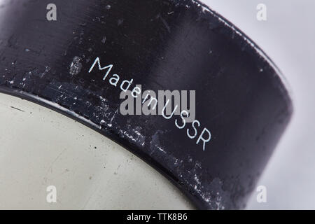 Made in USSR (telescope) - Stock Photo