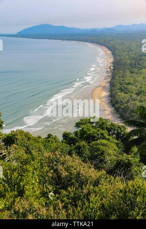 Beautiful view of Sabandar Beach from Rasa Ria, Kota Kinabalu, Sabah, Malaysia - Stock Photo