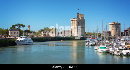 View of the Old harbor of La Rochelle, France - Stock Photo