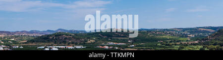 view over Silves from the perspective of the famous castle - Stock Photo