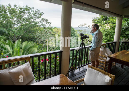 BELIZE, Punta Gorda, Toledo, guests are surrounded by beautiful views and wildlife at Belcampo Belize Lodge and Jungle Farm - Stock Photo