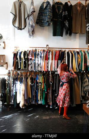 USA, California, San Francisco, The Mission, NO store owner Amber Gavin, Valencia Street - Stock Photo