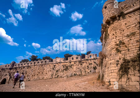 Greece Crete Island -  citadel of the city of Rethymno - Fortress - Stock Photo