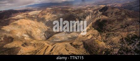 Panoramic view of Bingham Canyon - Stock Photo