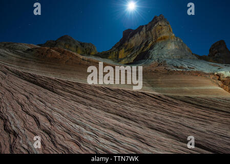 Scenic view of Marble Canyons against sky at night - Stock Photo