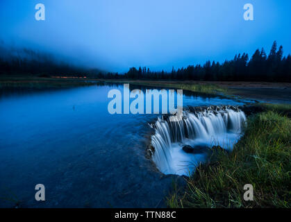 Scenic view of Lost lake against blue sky - Stock Photo