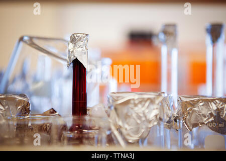 Laboratory equipment on table - Stock Photo