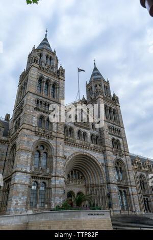 Natural History Museum London, UK - May 28, 2019: The main entrance to the Natural History Museum in London - Stock Photo