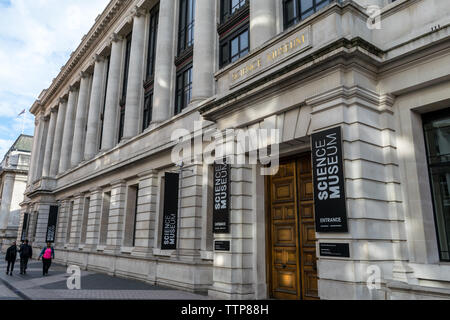 Science Museum London, UK - May 27, 2019:  The main entrance to the Science Museum in London - Stock Photo