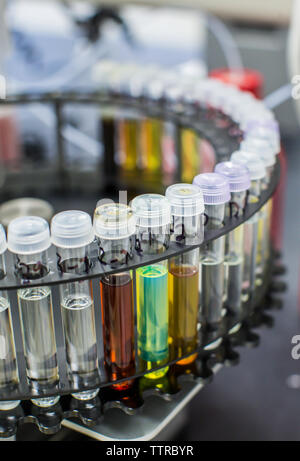 Close-up of test tubes in laboratory - Stock Photo