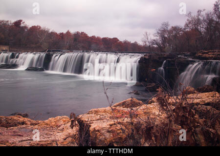 Grand Falls in Autumn, Joplin, Missouri - Stock Photo