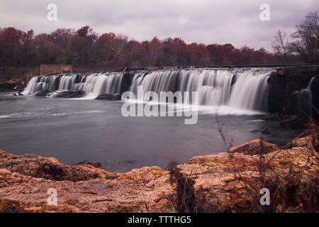 Grand Falls in Autumn, Joplin, Missouri - Stock Photo