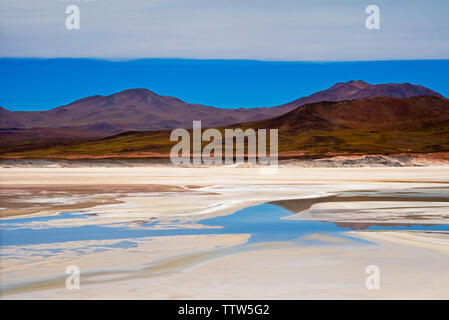 Laguna Salar de Talar, San Pedro de Atacama, Antofagasta Region, Chile - Stock Photo