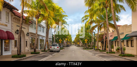 Worth Avenue in Palm Beach, Florida. (USA) - Stock Photo
