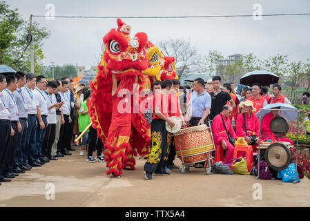 September 23, 2018 Opening Ceremony of the First Chinese Farmers Harvest Festival Lianxi Conference Hall, Wengyuan County, Shaoguan City - Stock Photo