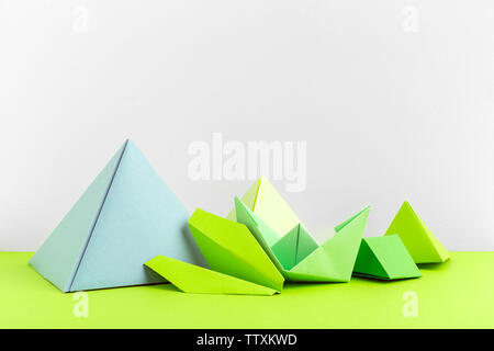 Abstract colorful geometrical background close up soft focus - Stock Photo